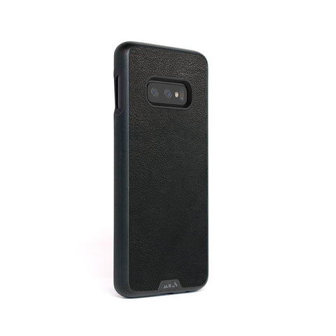 Black Leather Indestructible Samsung S10 E Case