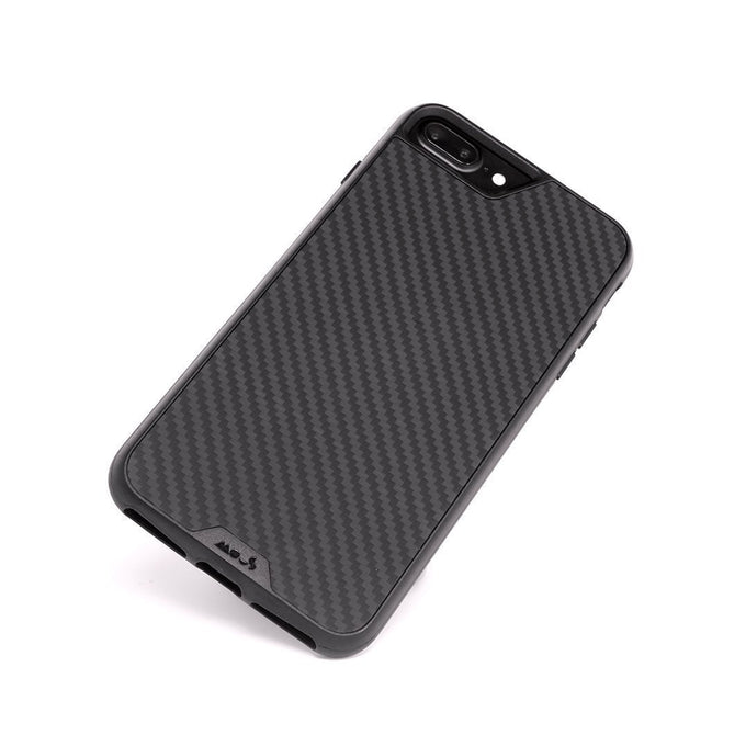 Fibre de carbone indestructible pour l'iPhone 8 Plus Coque