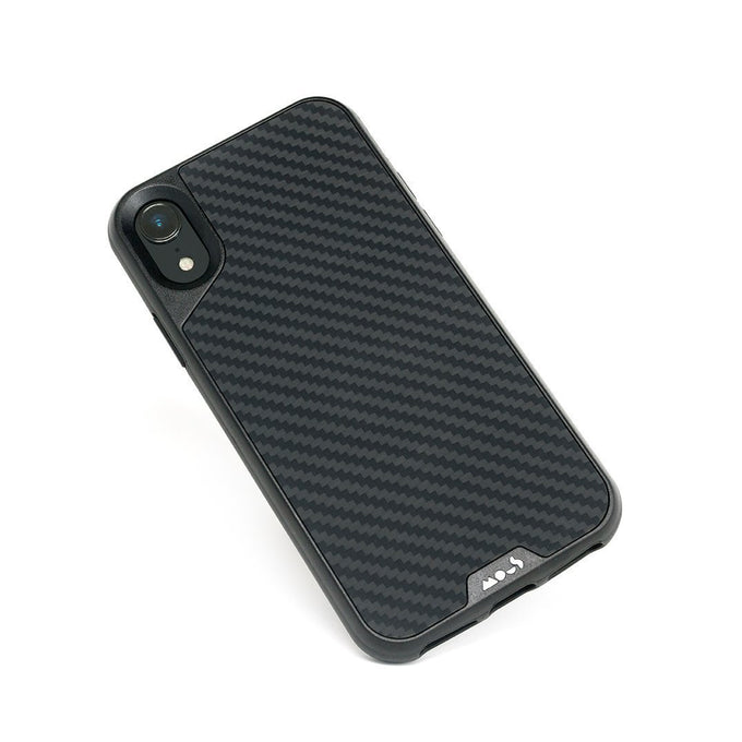 Fibre de carbone indestructible pour l'iPhone XR Coque