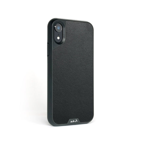 Black Leather Protective iPhone XR Case