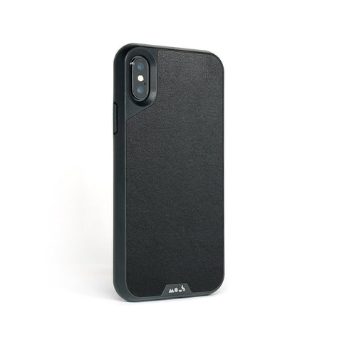 Black Leather Protective iPhone XS Max Case