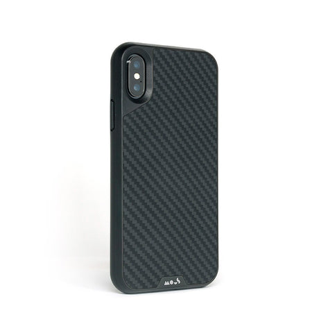 Protection en fibre de carbone pour l'iPhone XS Max Coque