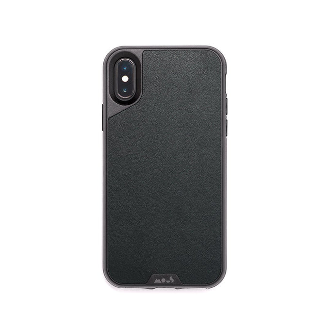 Black Leather Unbreakable iPhone XS Max Case