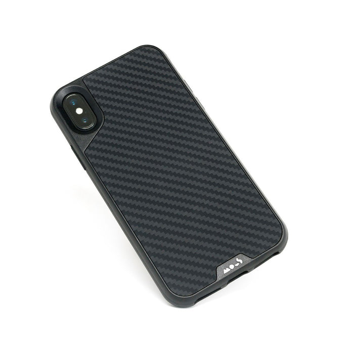 Fibre de carbone indestructible pour iPhone X et XS Coque
