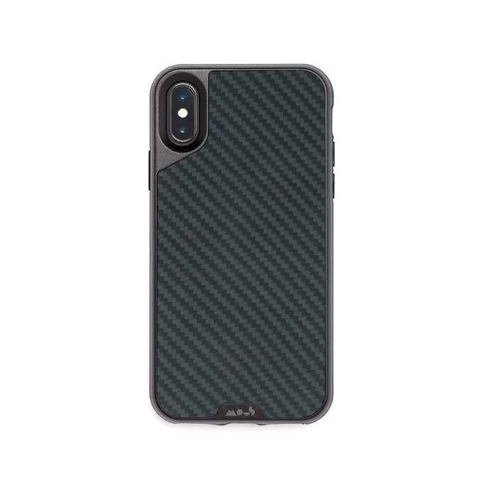 Funda irrompible de fibra de carbono para iPhone X y XS