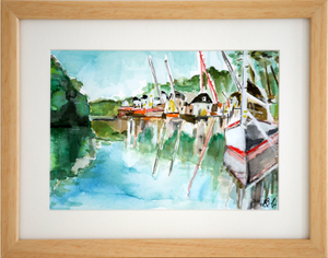 Docked Boats - SOLD