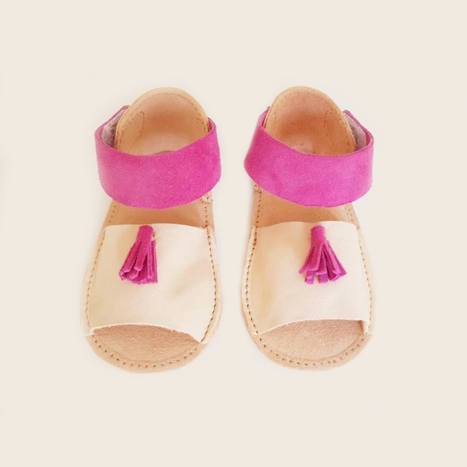fe08855a5a75 Baby girl leather sandals - Mika   Meia