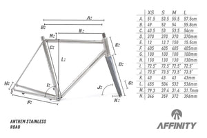 ANTHEM STAINLESS STEEL ROAD FRAMESET