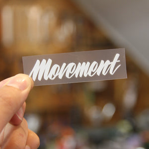 MOVEMENT LOGO STICKER