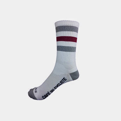 STRIPED CYCLING SOCKS - HIGH CUFF