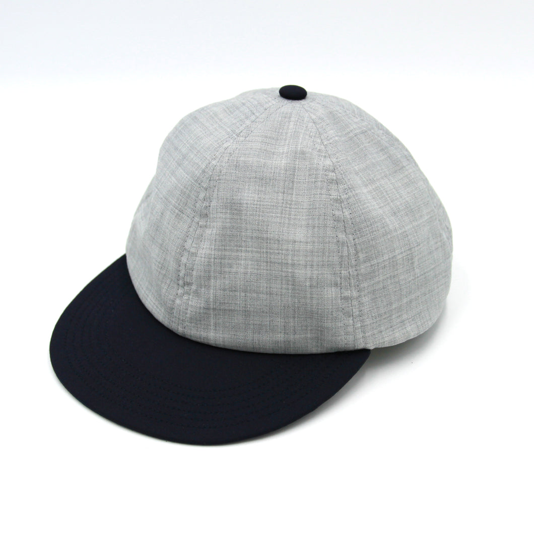 FLIP UP B-CAP MERINO WOOL(LIGHT GLAY x NAVY)
