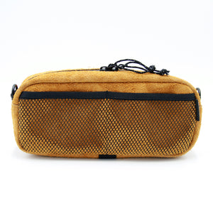 MESH POCKET BAR BAG(Buckskin leather)
