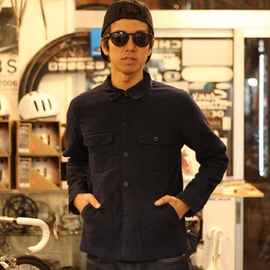 DEFENDER FLANNEL SHIRT (NAVY)