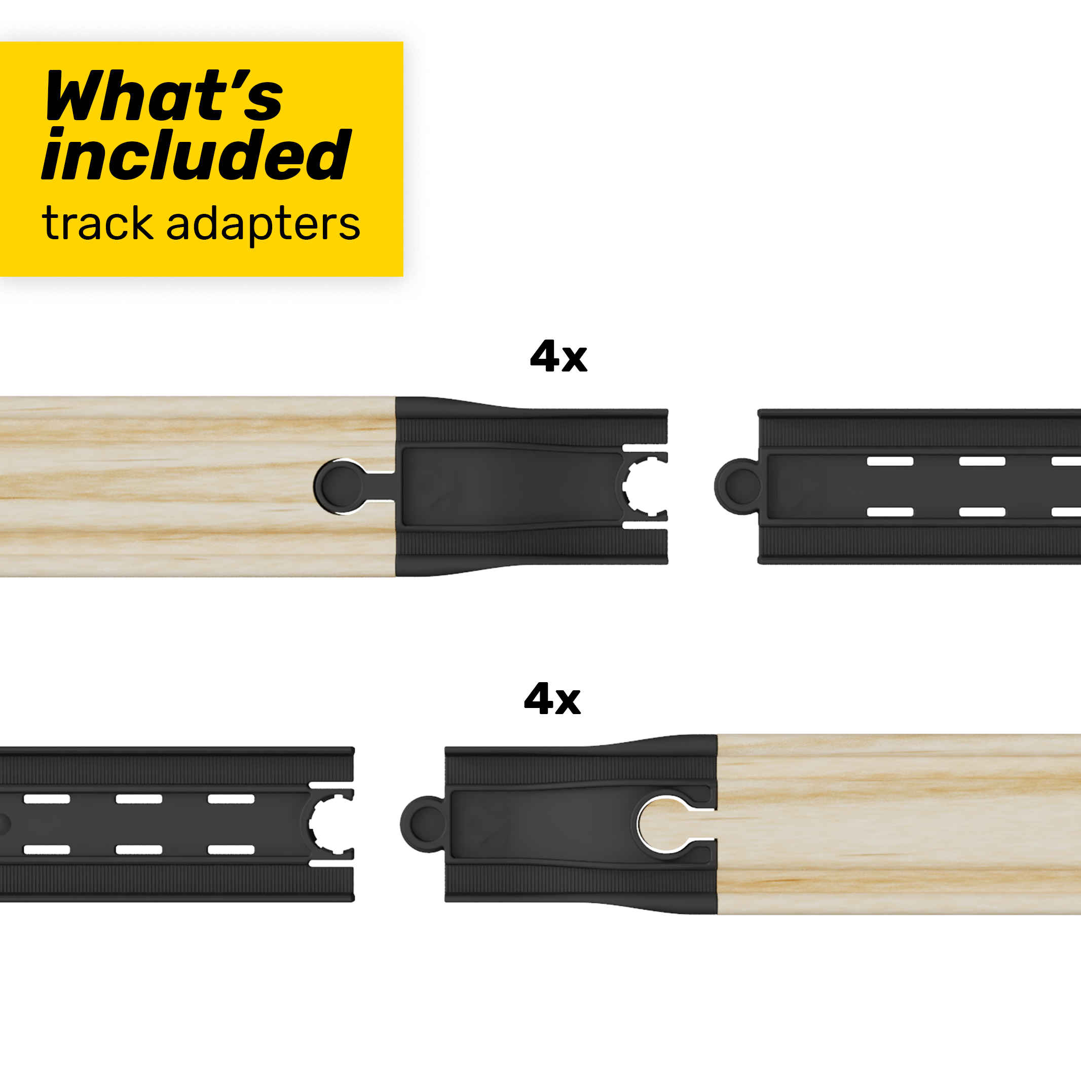 intelino Wooden Track Adapter Kit