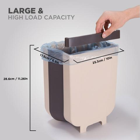 foldable compact kitchen hanging waste bin