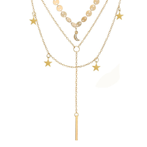 Luna Multilayer Necklace - Happy Go Zoe Jewelry