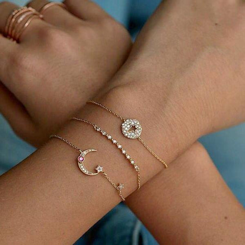 925 Pavé Moonstruck Bracelet - Happy Go Zoe Jewelry