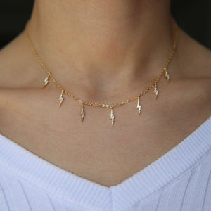 Lightning and the Thunder Necklace - Happy Go Zoe Jewelry