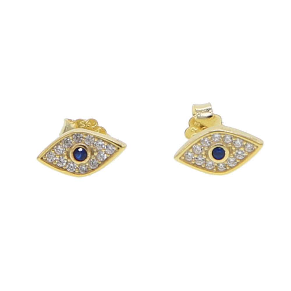 Dainty Pavé Eye Spy Charm Earrings - Happy Go Zoe Jewelry