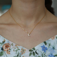 925 Little Moon Necklace - Happy Go Zoe Jewelry