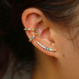 925 Colorful Candy Ear Climbers - Happy Go Zoe Jewelry