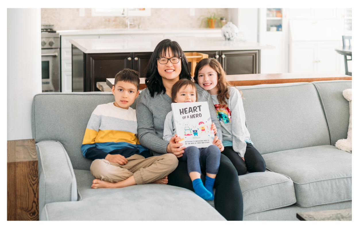 Jennifer Wu, Founder of Spark Journal, with her family