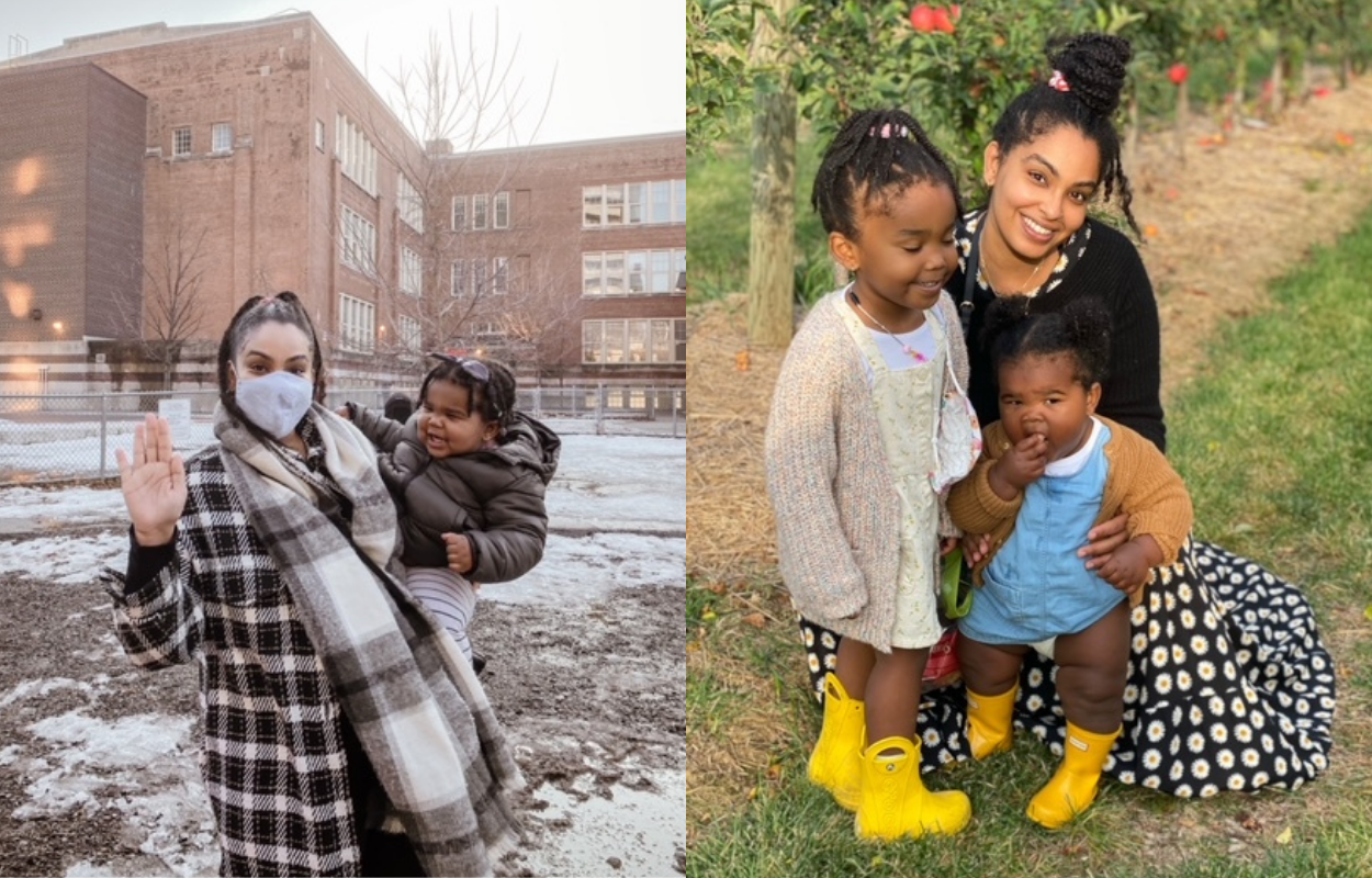 Melody Adjei @MelodyAdjei, and her daughters Laila & Kenza