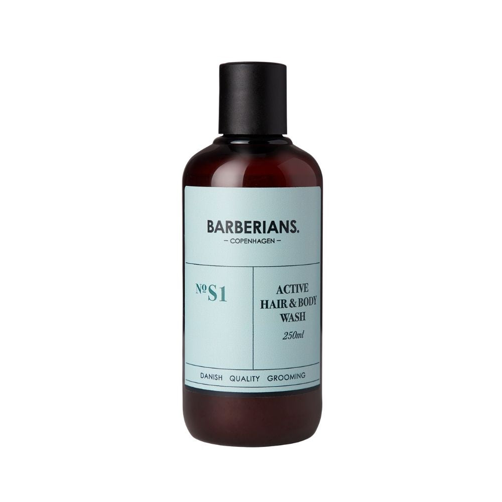 Barberians Active Hair & Body Wash 250ml
