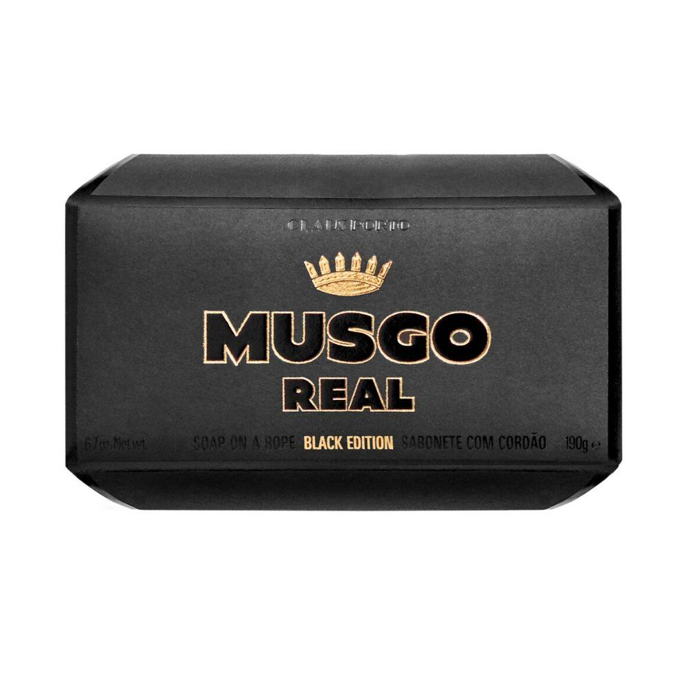 Musgo Real Soap on a Rope - Black Edition - Kernseife