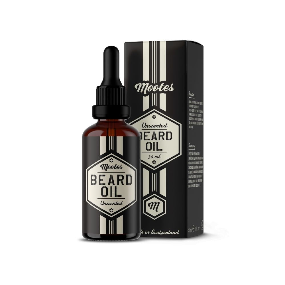Mootes Beard Oil - Unscented 30ml - Bartöl
