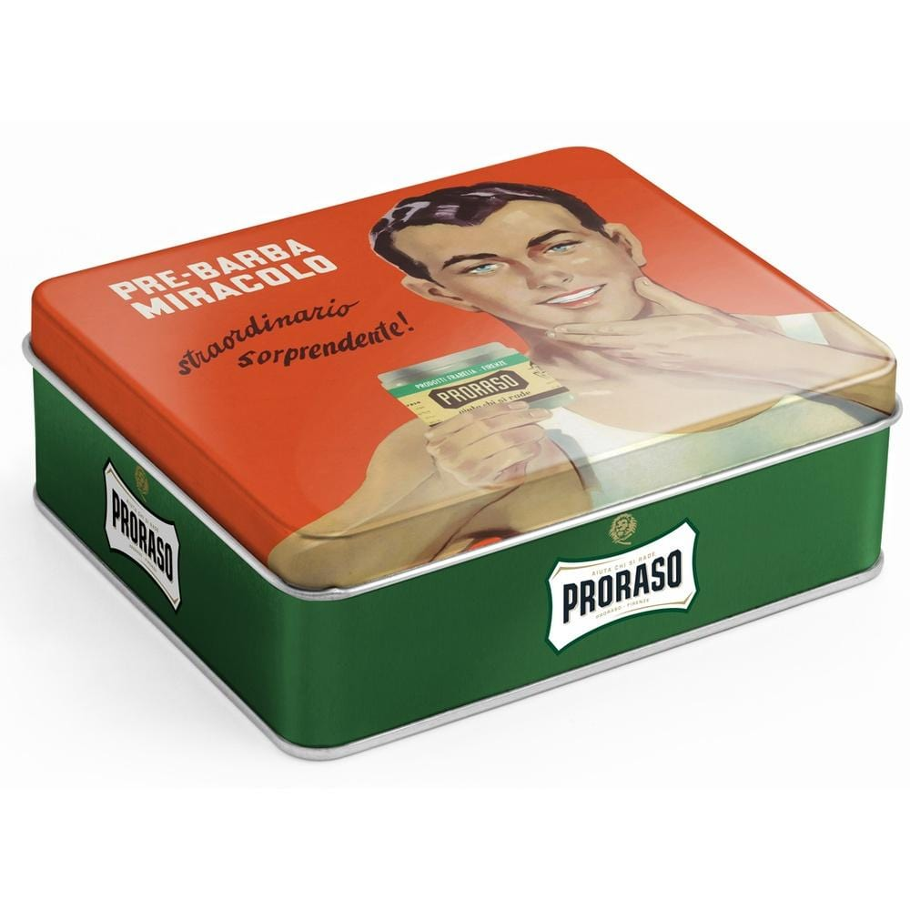 Proraso Vintage Selection Gino X3 Green Refresh - Rasierset-The Man Himself