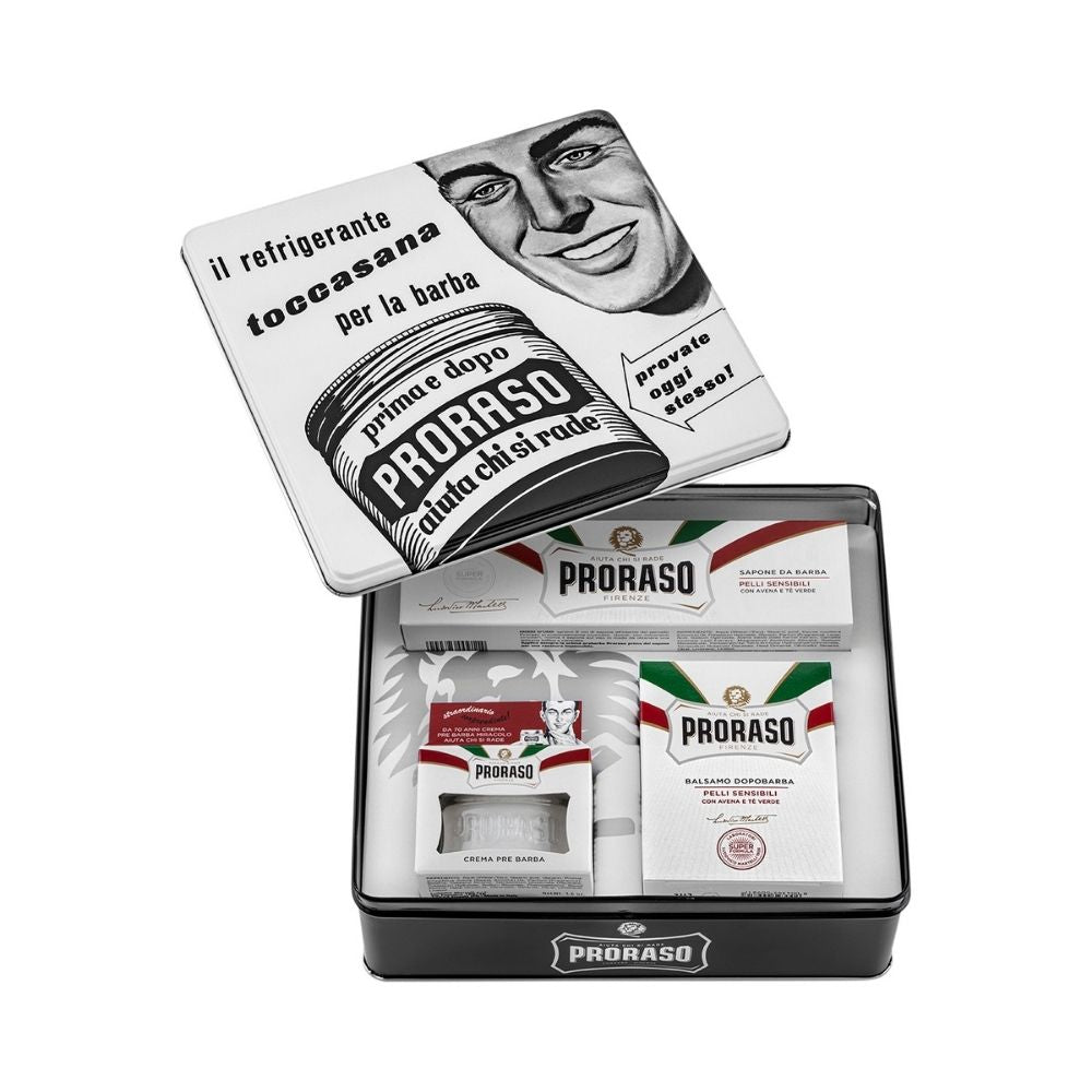Proraso Vintage Selection Toccasana X3 White Sensitive - Rasierset