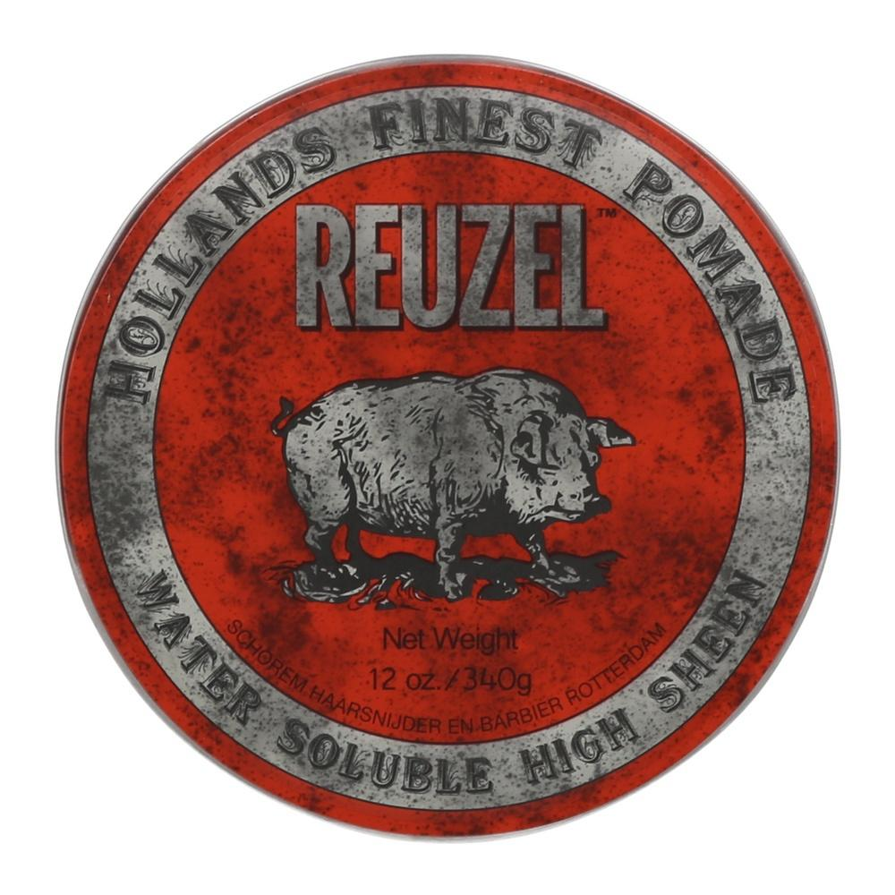 Reuzel Pomade Red - Water Soluble High Sheen (Barber Size 340g)