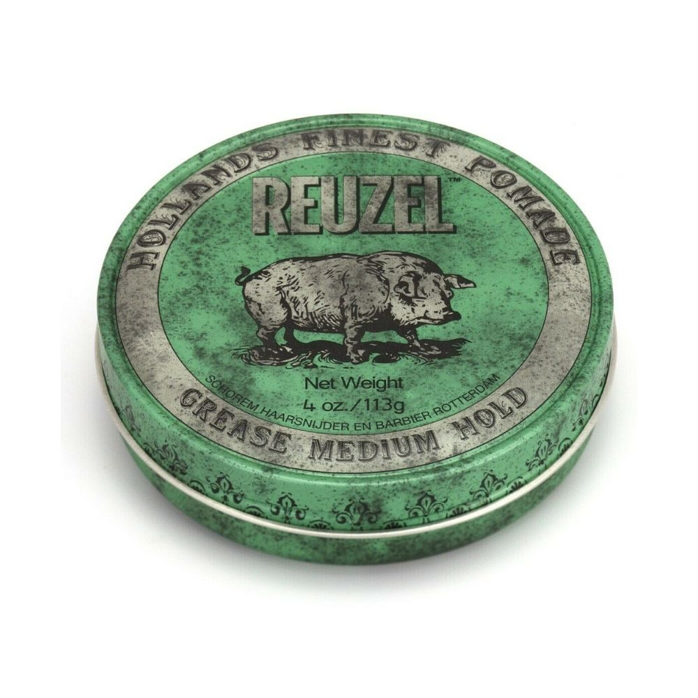 Reuzel Pomade Green - Grease Medium Hold (Regular 113g)