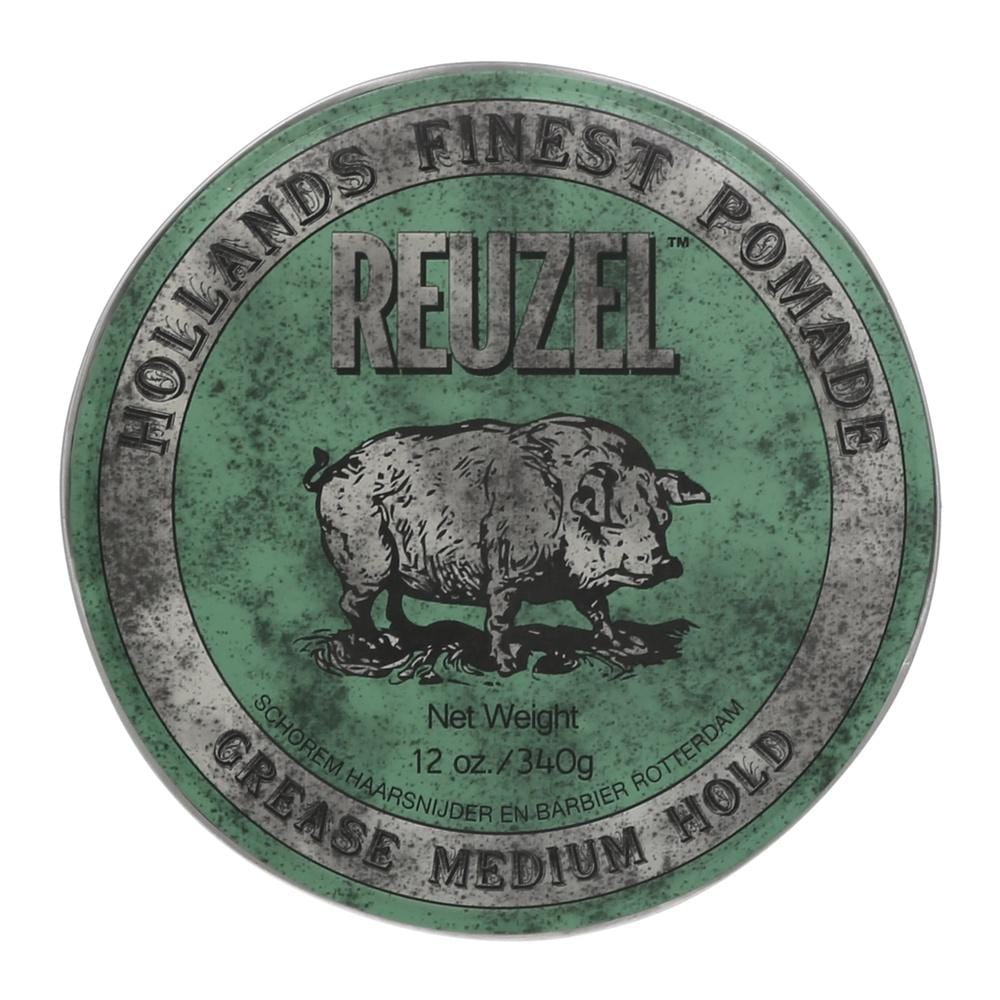 Reuzel Pomade Green - Grease Medium Hold (Barber Size 340g)
