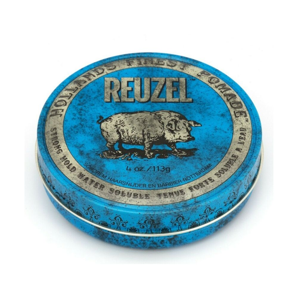 Reuzel Pomade Blue - Strong Hold Water Soluble High Sheen (Regular 113g)