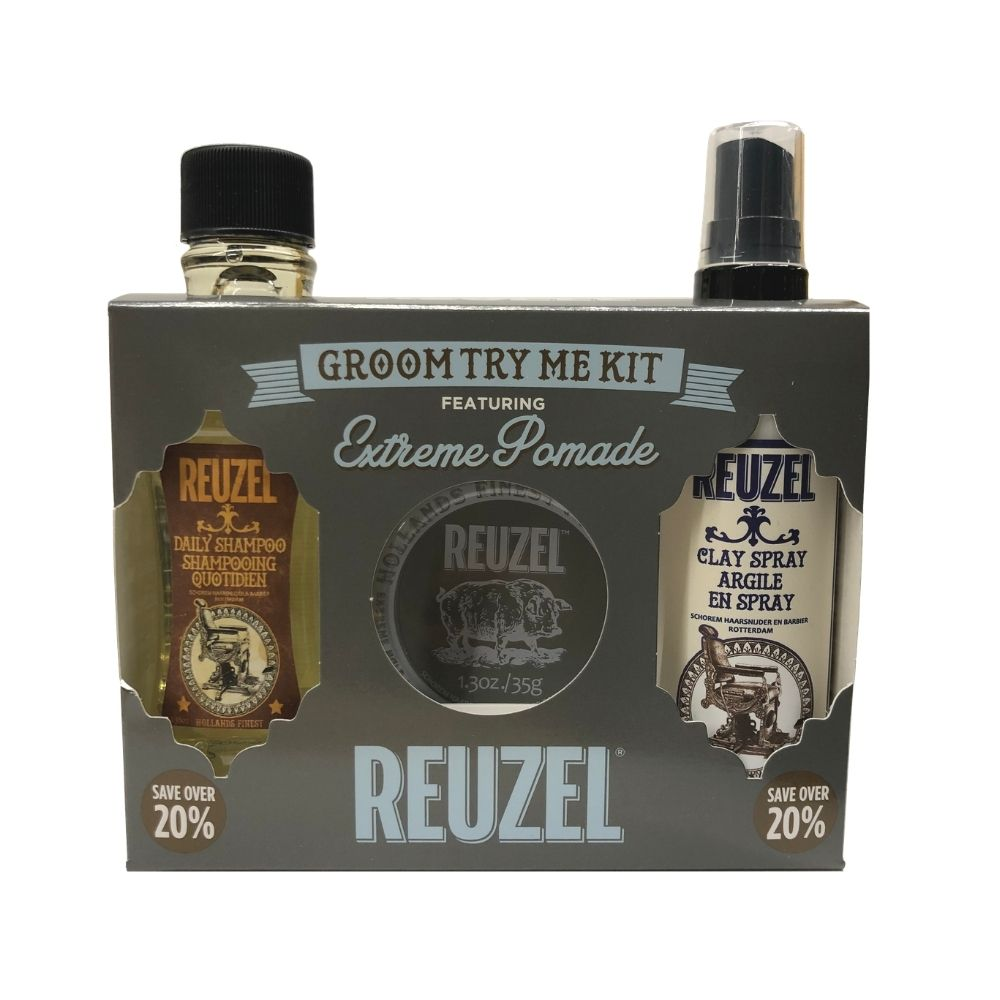 Reuzel Groom Try Me Kit - Extreme Hold Pomade - Haarstylingset