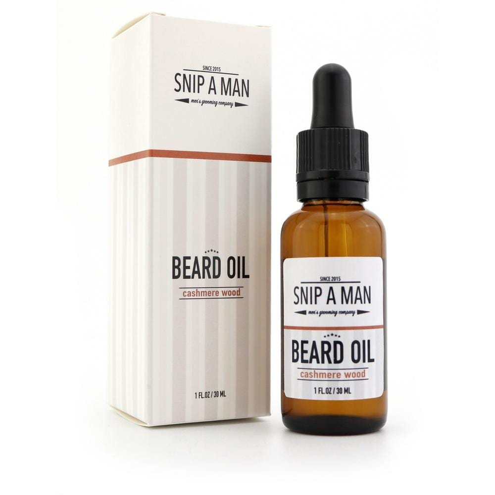 SNIP A MAN Beard Oil Cashmere Wood - Bartöl-The Man Himself