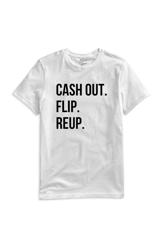 CASH OUT WHITE TEE