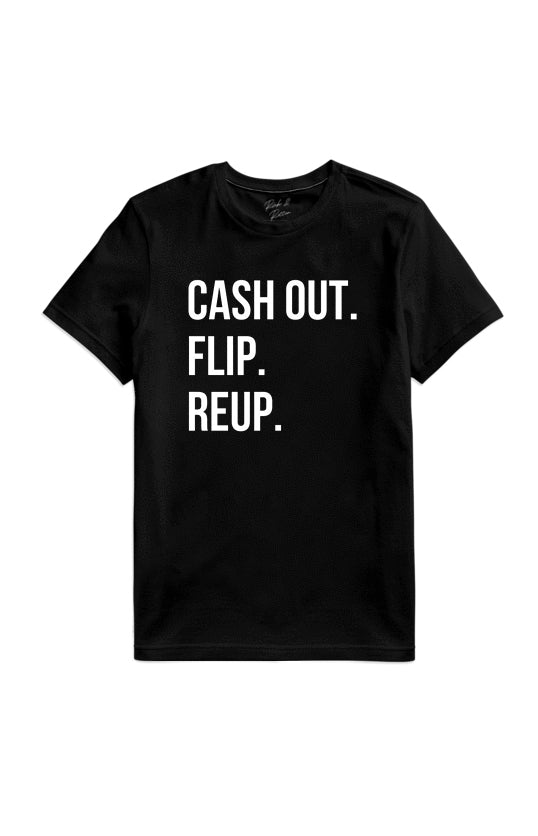 CASH OUT BLACK TEE