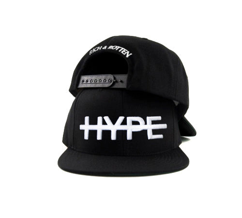 FUK HYPE White Lettering on Black SNAPBACK