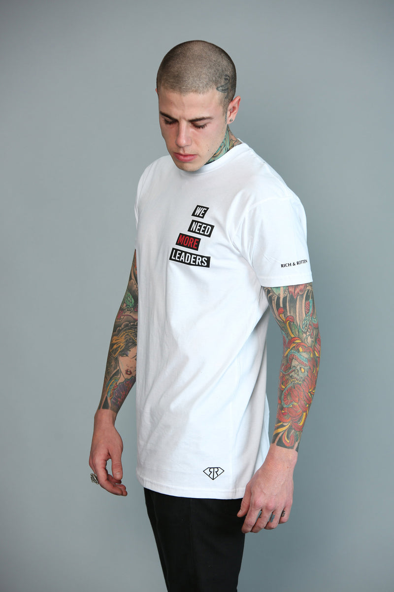 LEADERS WHITE TEE