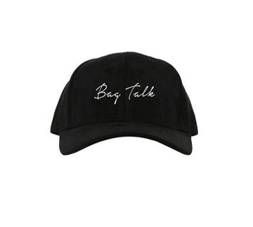 BLACK SUEDE BAG TALK DAD HAT
