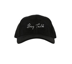 BLACK SUEDE BAG TALK DAD HAT - Rich & Rotten
