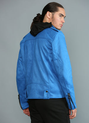 BLUE SUEDE ROCKER JACKET - Rich & Rotten