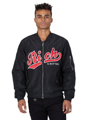 RICH & ROTTEN BOMBER (Blk/red)