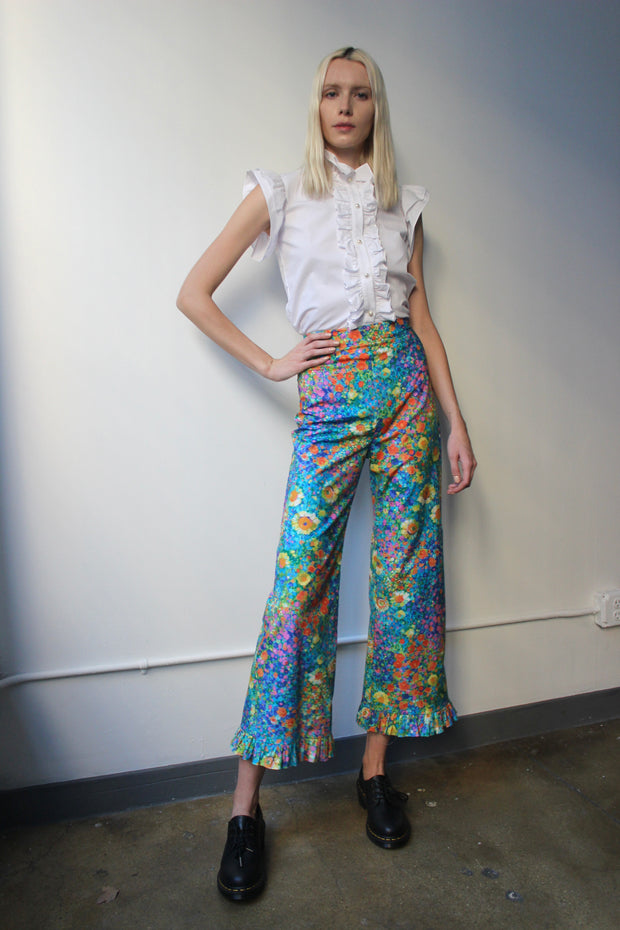 Ruffle Pant in Bright Monet