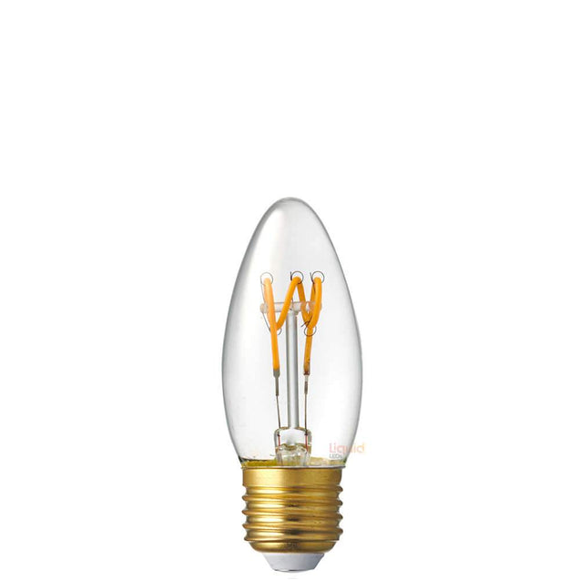 3W Candle Dimmable Tre Loop LED Bulb (E27) in Extra Warm White