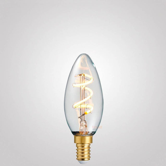 3W Candle Spiral Dimmable LED Bulb (E14) in Extra Warm White