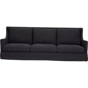 South Hampton Sofa - 3 Seater Black Linen